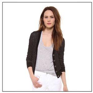 Madewell Pindot Sweater Cardigan M